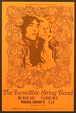 Incredible String Band, Filmore West Sept. 10 1969